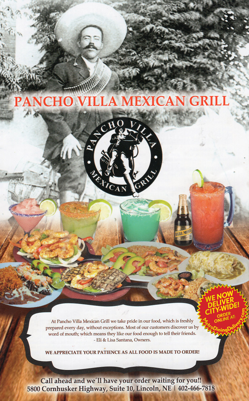 Chevys Lincoln Ne >> Pancho Villa Mexican Grill | Full Menu | Lincoln NE ...